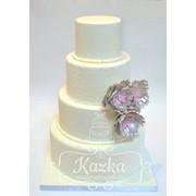 Торт из мастики свадебный Житомир фото