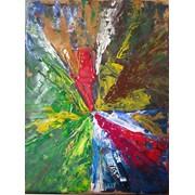 """Картина """"Мандала №9"""" А4, акрил, мастикин, трансовая живопись фото"""