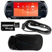 Игровая приставка SONY PlayStation Portable (PSP E1008) Street + 8gb карта памяти + Чехол + Пленка на экран + USB кабель фото