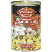 """Шампиньоны резанные консервированные """"Vitaland"""" фото"""