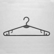 Вешалка плечики для нижнего белья с перекладиной пластиковая, черная. В-103 фото