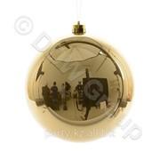 Декор Шар золотистый эмаль d14см фото