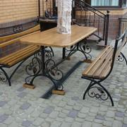 Мебель уличная с элементами ковки №7 фото