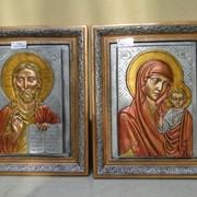 Икона Исуса Христа код1670. Матерь Божья с младенцем Исусом код 1680 фото