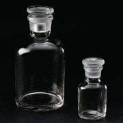 Склянка с притертой пробкой, 10000 мл, узкое горло, светлая, упаковка 1/2 фото