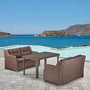 Комплект плетеной мебели T51B/S51B-W60 Light brown фото