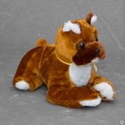 Детская мягкая игрушка собака боксер Леонид фото