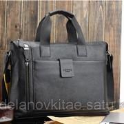 Мужской кожаный портфель М0039 фото