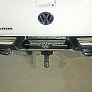 Накладки на задний бампер (лист зеркальный логотип Volkswagen) фото