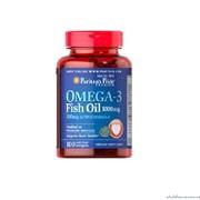 Капсулы Рыбий жир Puritan's Pride Omega-3 Fish Oil 1000 mg 100 софтгелиевых капсул фото