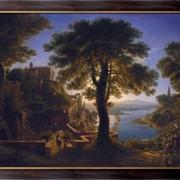 Картина Замок на берегу реки, Шинкель, Карл Фридрих фото