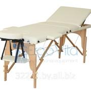 Складной массажный стол дереянный ErgoVita CLASSIC PLUS (3-х секционный, кремовый) фото
