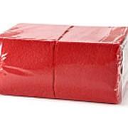 Салфетки PROFI- Стиль 1-сл. 300л. 24х24 (х15) КРАСНЫЕ (в п/п упаковке) фото