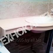 Cтолешница для ванной комнаты из искусственного кварца фото