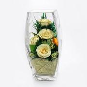 Роза в стекле tm FIORA CUB-Rwo 34510 фото
