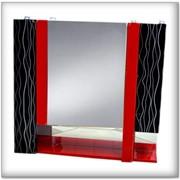 Зеркало 75 A (0) Черно-Красное фото
