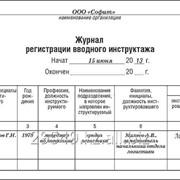 Журнал регистрации вводного инструктажа фото