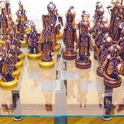Скульптура Стол с шахматами фото