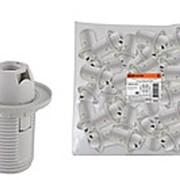 Патрон Е14 с кольцом, термостойкий пластик, белый, Б/Н TDM фото