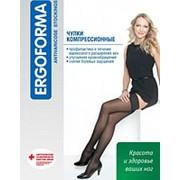 Чулки компрессионные профилактические Ergoforma 201, черные фото