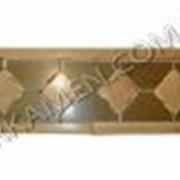 Фриз полированный из Луганского натурального камня песчаника для стен Кантор 5, код Ф55 фото