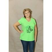 Блуза женская хлопчатобумажная + лайкра фото