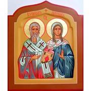 Именная икона Св.муч.Киприан и Иустина фото