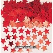 Конфетти Звёзды красные 14гр А фото