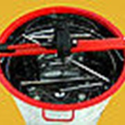 Медогонка 2-х рамочная поворотная нержавеющая(БАК,КАССЕТЫ) кассеты сварные с подставкой фото