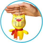 """Антистрессовая игрушка-брелок """"Звери в шарфах. Котик"""" фото"""