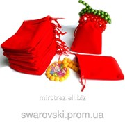 Мешочек для бижутерии из бархата Красный 10*12см M3-7-05 фото