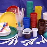 Одноразовая посуда, одноразовые стаканы, одноразовая тарека фото