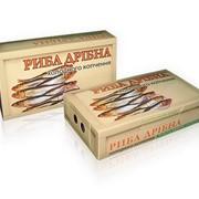 Упаковка для мелкой рыбы и полуфабрикатов фото