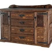 Изготовление мебели под старину из массива сосны фото