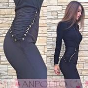 Женские супер стильные лосины со шнуровкой фото