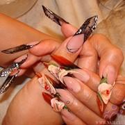 Наращивание и коррекция ногтей фото