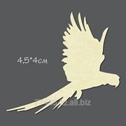 Чипборд Птица №1 Попугай летящий маленький фото