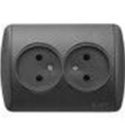 Розетка ZIRVE двойная SL-F черный с вставкой 501-1111-908Y фото