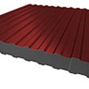Профнастил НС-8 0,5мм Красно-коричневый RAL3011 двухсторонний фото