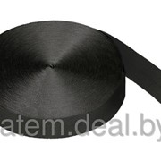 Стропа текстильная (лента ременная) 40 мм черная фото