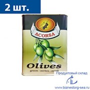 "Оливки ""АКОРСА"" зеленые без косточки 7,5кг х 2шт фото"