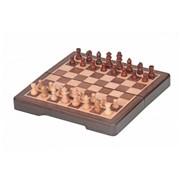 Шахматы магнитные в деревянной коробке фото