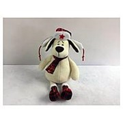 TEDDY Собака в ушанке с шарфом, 24см (YSL18669) фото