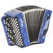 C27-BL Баян «Шуя» 47х80-II, синий, Шуйская гармонь фото