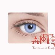 Линзы контактные неоновые, фиолетовые фото