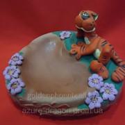 Пепельница с тигром или коровой фото