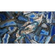 Камни полудрагоценные Blue Agate фото