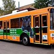 Реклама на автобусах, троллейбусах, трамваях фото