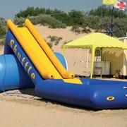 Надувная водная горка Шатл серии ТS фото