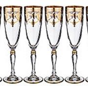 """Набор из 6-ти бокалов для шампанского """"Амальфи"""" 200 мл. арт.326-040 фото"""